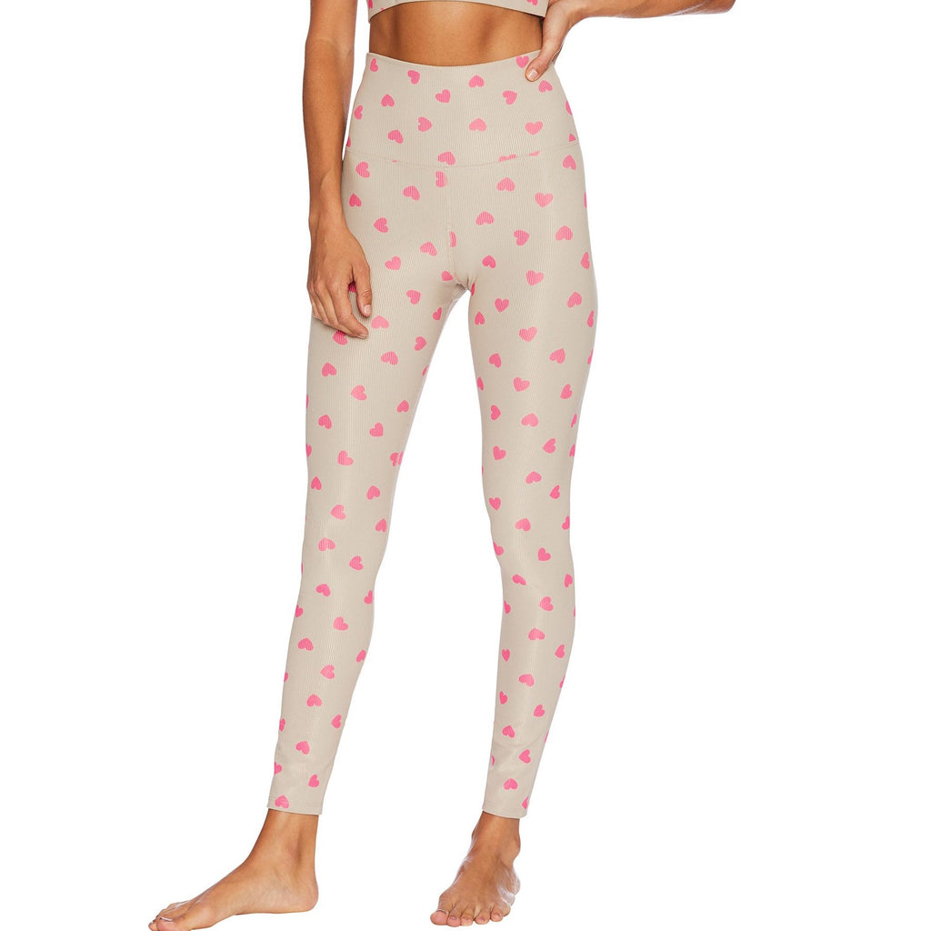 Beach Riot Ayla legging Taupe Heart