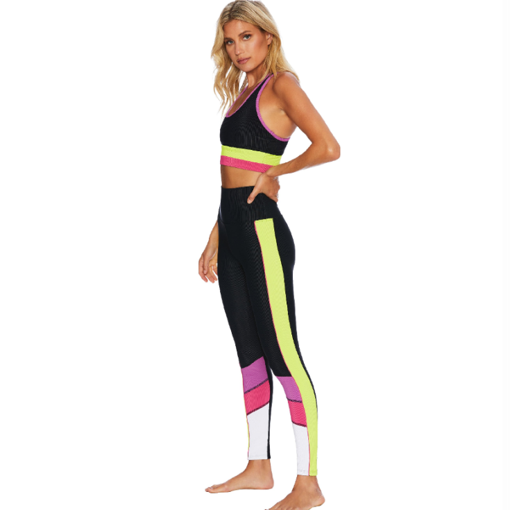 Beach Riot Bailey Legging - Black Lime Punch