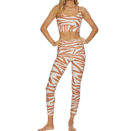 Beach Riot Piper legging Cloud Cream Zebra Print