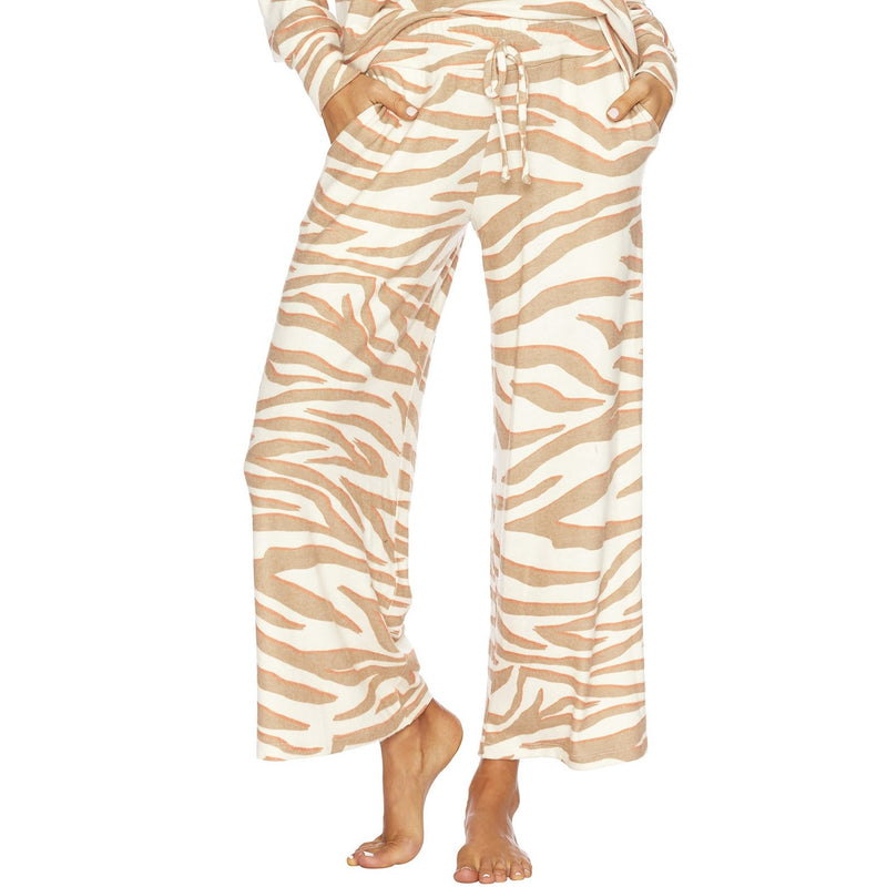 Beach Riot Hailey Pant Cloud Cream Zebra Print