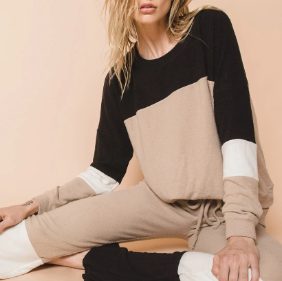 Beach Riot Colorblock Lounge Sweater