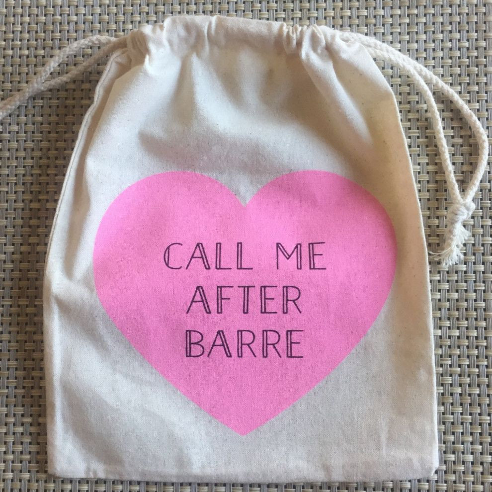 Barre Sock Bag - Call Me After Barre - simplyWORKOUT