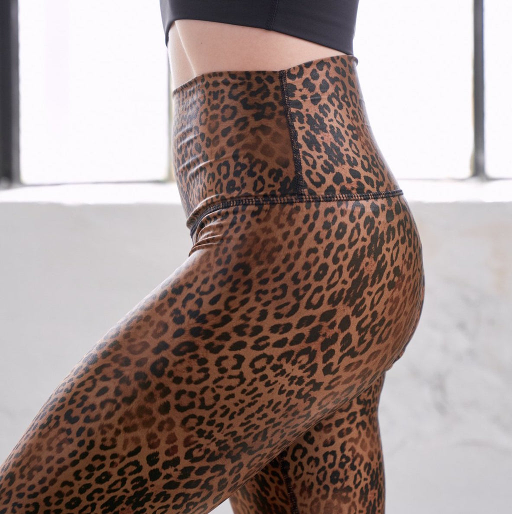 DYI High Shine Bronze Cheetah Legging