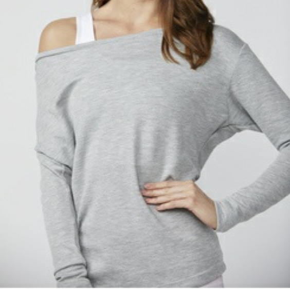 Cold Shoulder Long Sleeve - Heather Grey