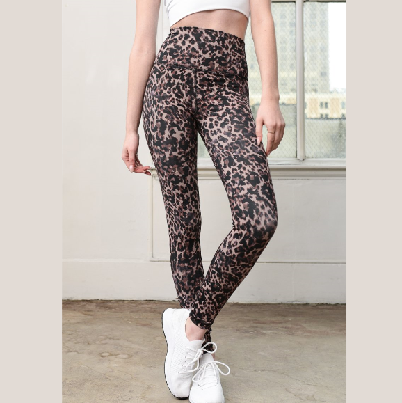 DYI Printed Dark Leopard Signature Tight