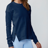 DYI Flocked Sweatshirt Navy