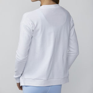 DYI Flocked Sweatshirt White