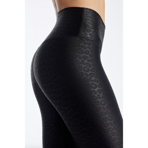 DYI Embossed Tight Leopard Black
