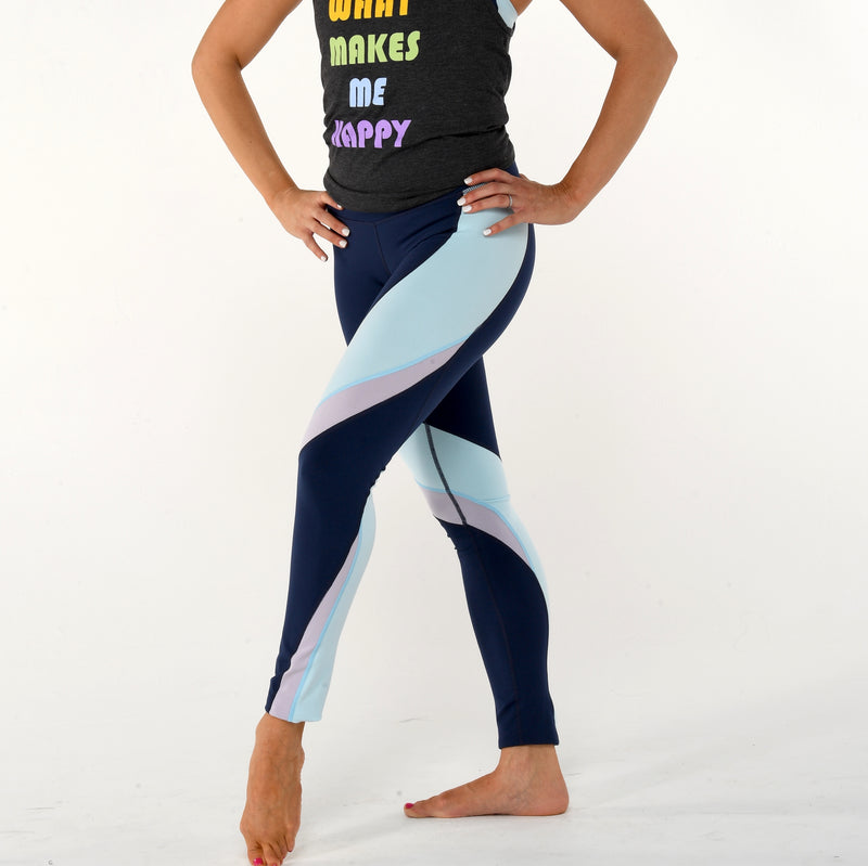 3f380b44c35e23 DYI CLOTHING - Heather Mix Legging in Navy and Grey – SIMPLYWORKOUT