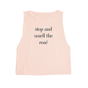 emi jay tank stop to smell the rose rose quartz