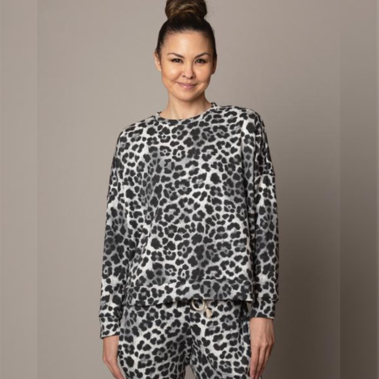 Emily Hsu Black Jaguar Weekend Pullover