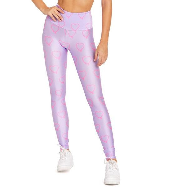 Goldsheep Purple Hearts Legging