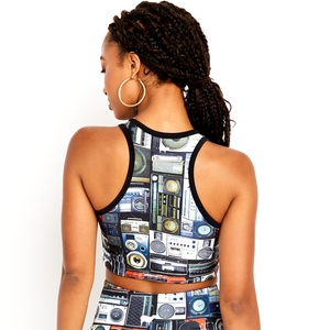 Goldsheep Boom Box Crop Top