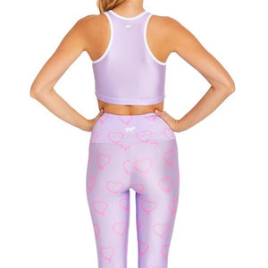 Goldsheep Purple Hearts Crop Top