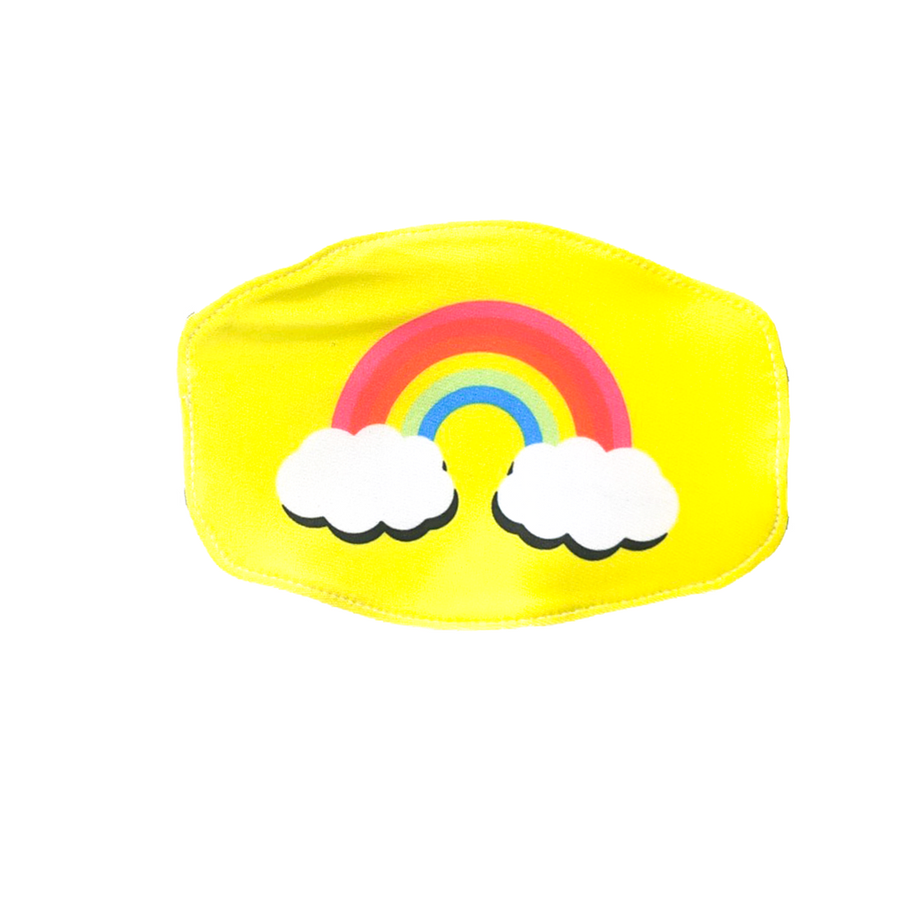 Goldsheep Neon Yellow Rainbow Kids Face Mask