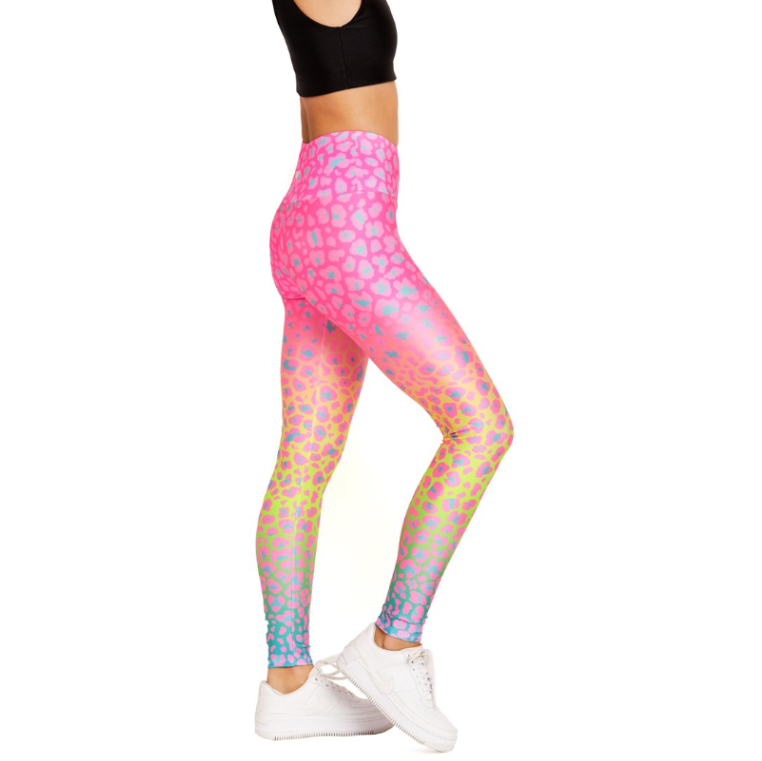 Goldsheep Ombre Easter Cheetah Legging