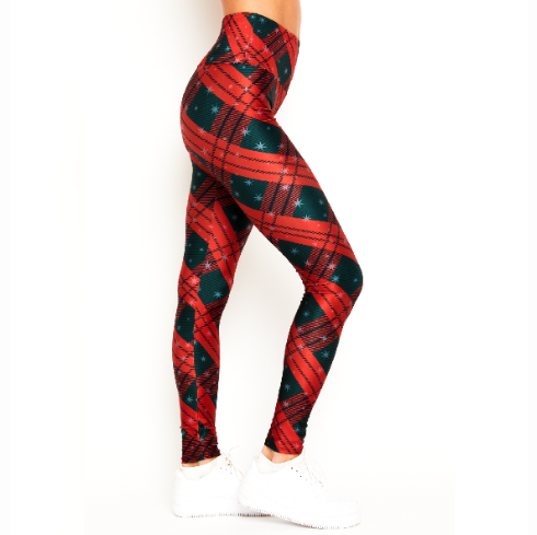 Goldsheep Clothing Starry Plaid Leggings