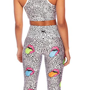 Rainbow Mouth 7/8 Crop Leggings