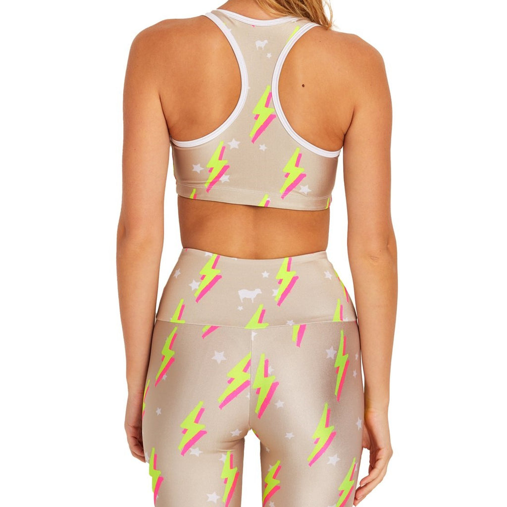 Goldsheep Nude Neon Bolts sports bra