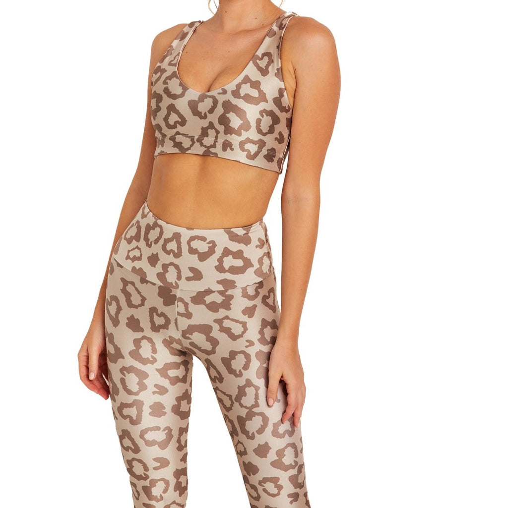 Goldsheep Tan Leopard Sports U Bra