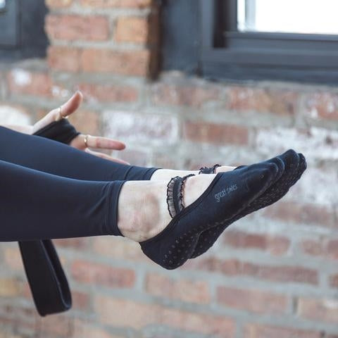 great soles joie black ballet with ruffle