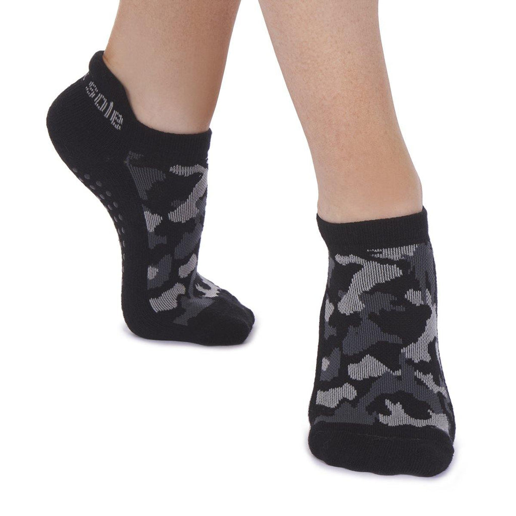 Great Soles Harley Tab Back Grip Sock Grey Black