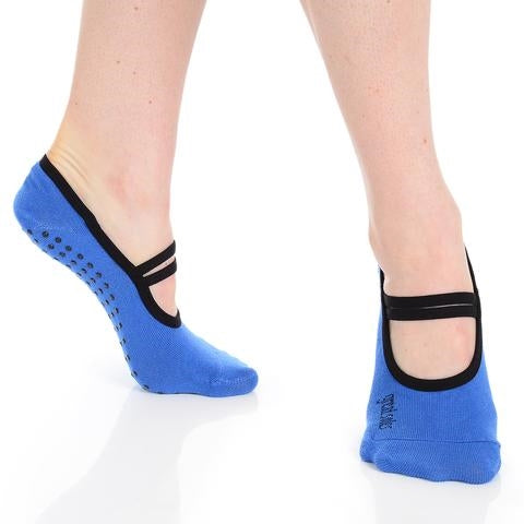 Great Soles Jules Ballet Grip Sock Cobalt Black