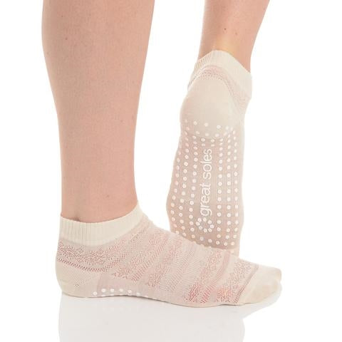 Great Soles Kailey Grip Sock Ivory