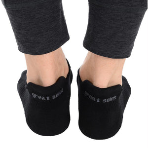Great Soles Riley Tab Back Grip Socks Black