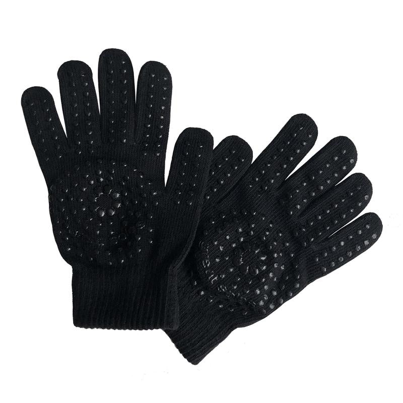 Great Soles Reese Cotton Grip Workout Gloves - Black