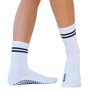 great soles elliott crew grip socks white