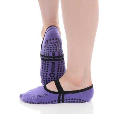 Great Soles Ballet Grip Sock Violet Black