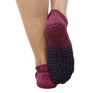 Great Soles Ombre Grip Sock Berry Blue