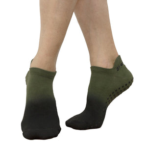 Great Soles Ombre Grip Sock Olive Black