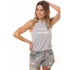 House of tens muscle tank sweat and good vibes gray