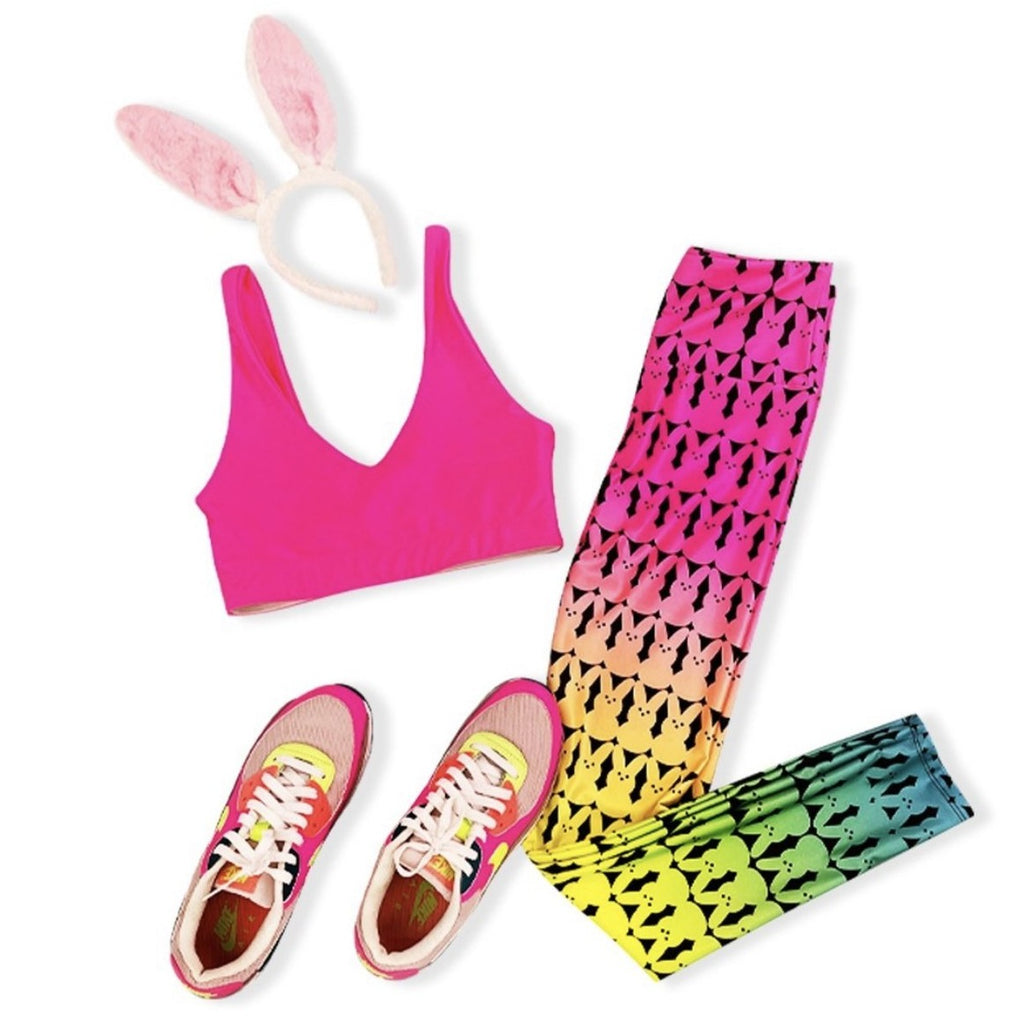 goldsheep basic neon pink u bra
