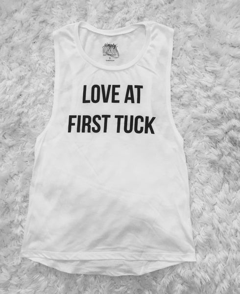 Love at First Tuck Muscle Tank - simplyWORKOUT
