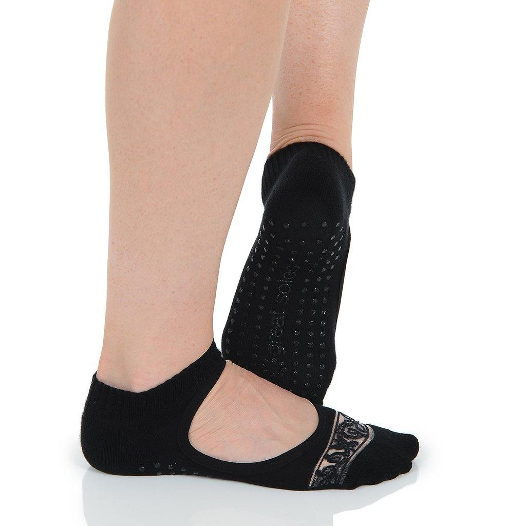 Great Soles Isabella Grip Sock Black Lace