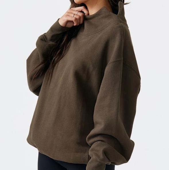 Joah Brown Oversized Turtleneck Sweatshirt Army Green