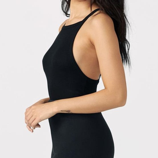 Joah Brown Classic Square Neck Tank Black Rib