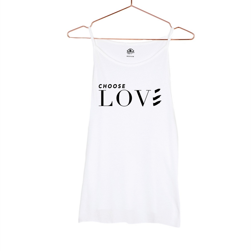 Luciana Choose Lover High Neck Tank White