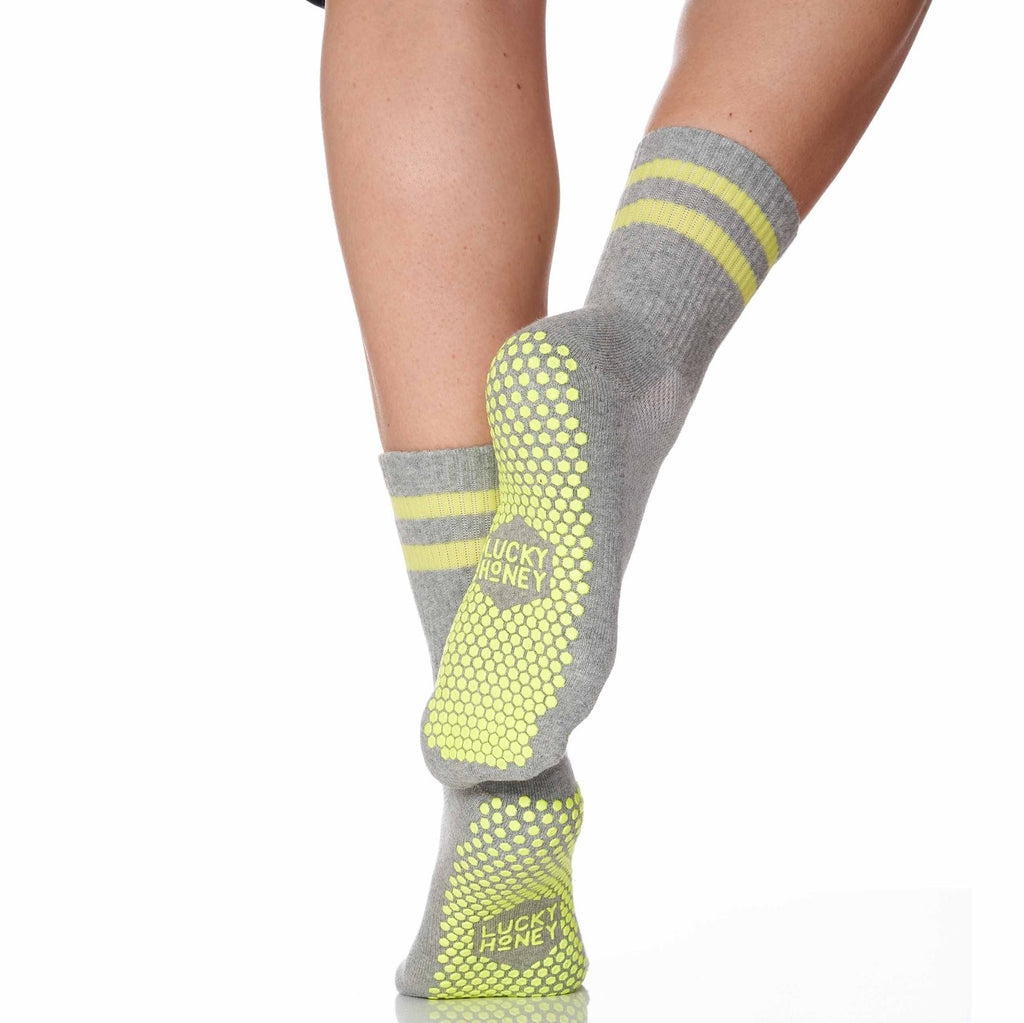 Lucky Honey the Dad Sock in Grey Grip Sock