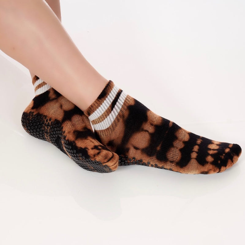 Lucky Honey Tie Dye Boyfriend Tiger Grip Sock