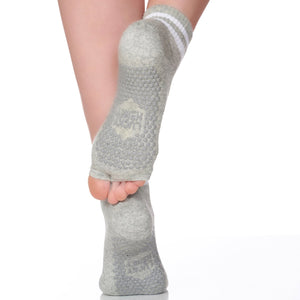 Lucky Honey the Thompson Half Toe Sock in Grey