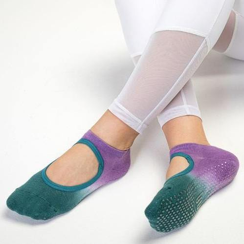 MoveActive Slide On Purple Green Grip Socks