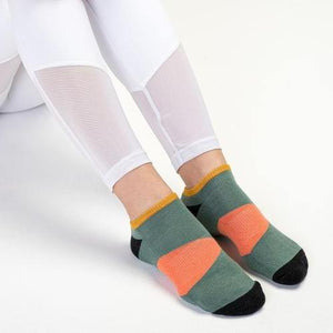 Move Active Classic Low Rise The Block Green Grip Socks