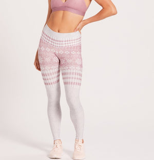 Niyama Sol Winter Snow Bunny Barefoot Leggings
