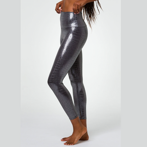 onzie midi leggings mercury foil