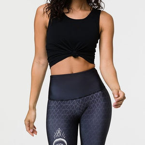 Onzie Knot Crop Top Black