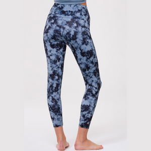 Onzie High Rise Midi Leggings Moonstone Acid Wash